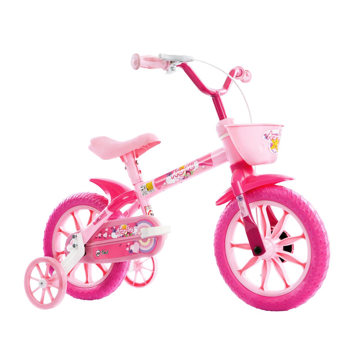 Bicicleta Infantil Track & Bikes Aro 12 Arco Iris Rosa