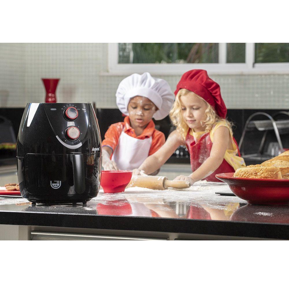 Fritadeira Air Fryer 4,5L - Amvox - 127 Volts