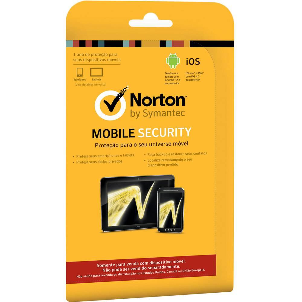 Antivírus Mobile Security para 1 Usuário/12 Meses - Norton