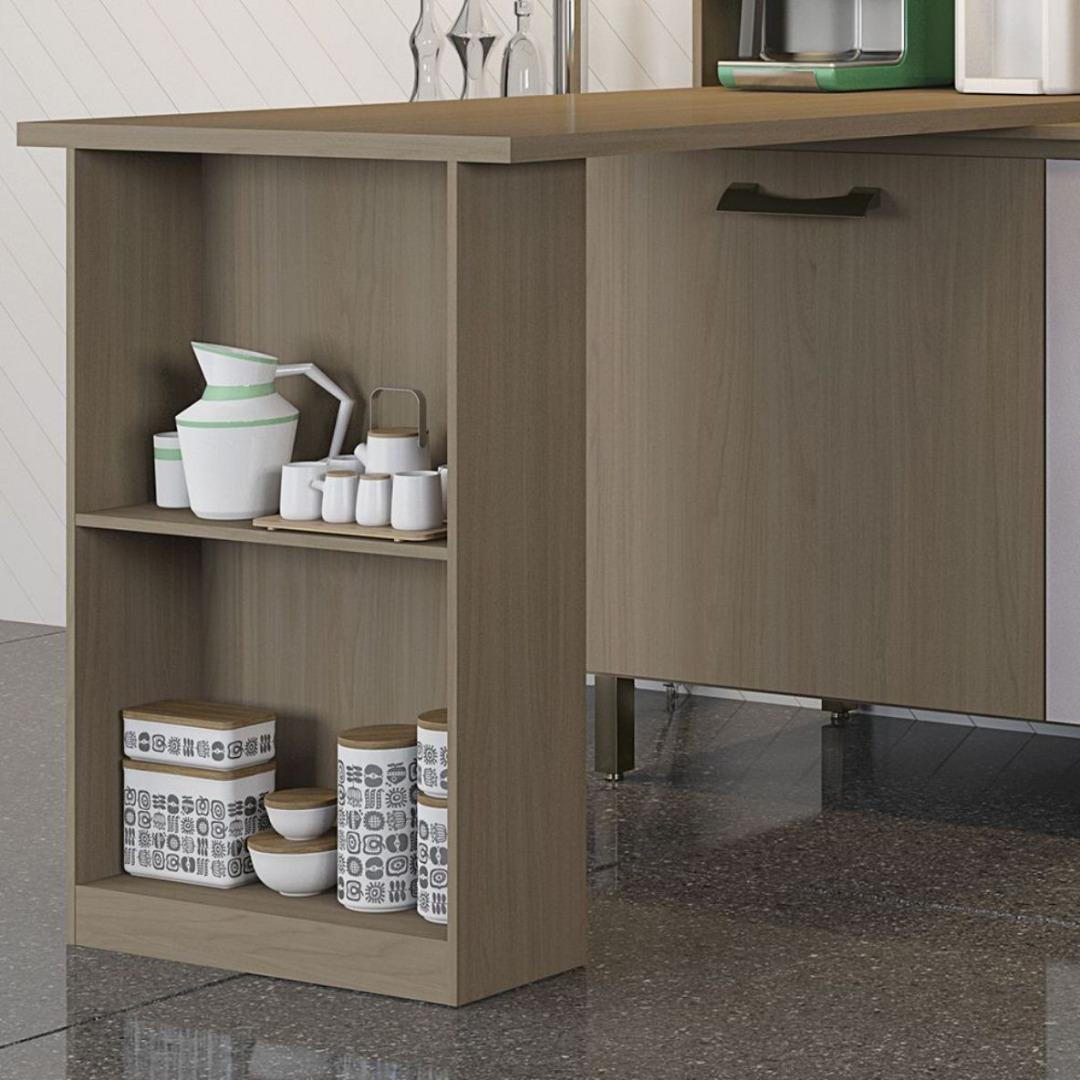 Bancada E781-NT para Kit de Cozinha Compacta - Nature - Kappesberg