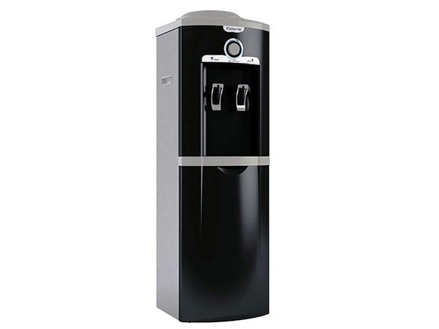 Bebedouro de Coluna Refrigerado por Compressor - Esmaltec - Preto Inox