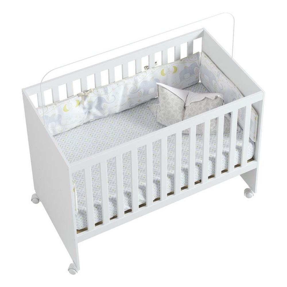 Berço Americano Nana Baby - Fiorello - Branco Brilho