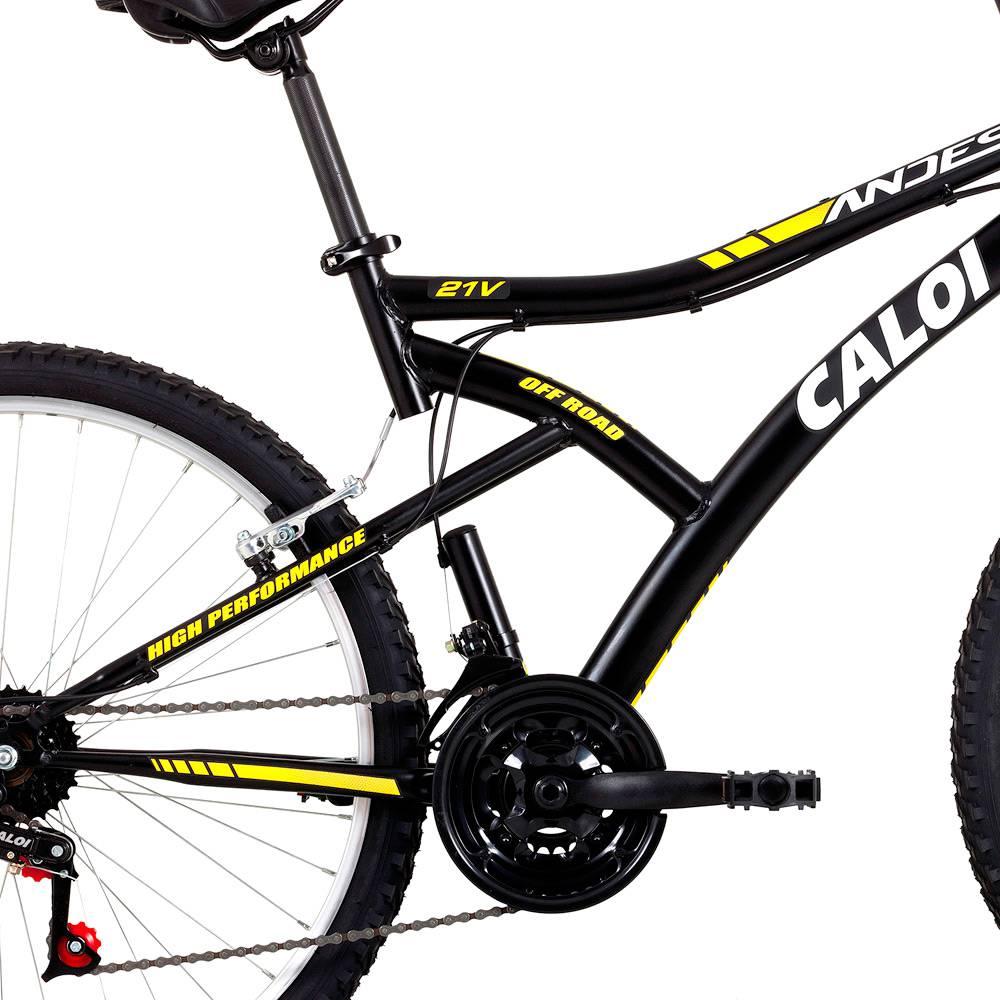 Bicicleta Andes Aro 26 - 21 Marchas Preto Fosco - Caloi