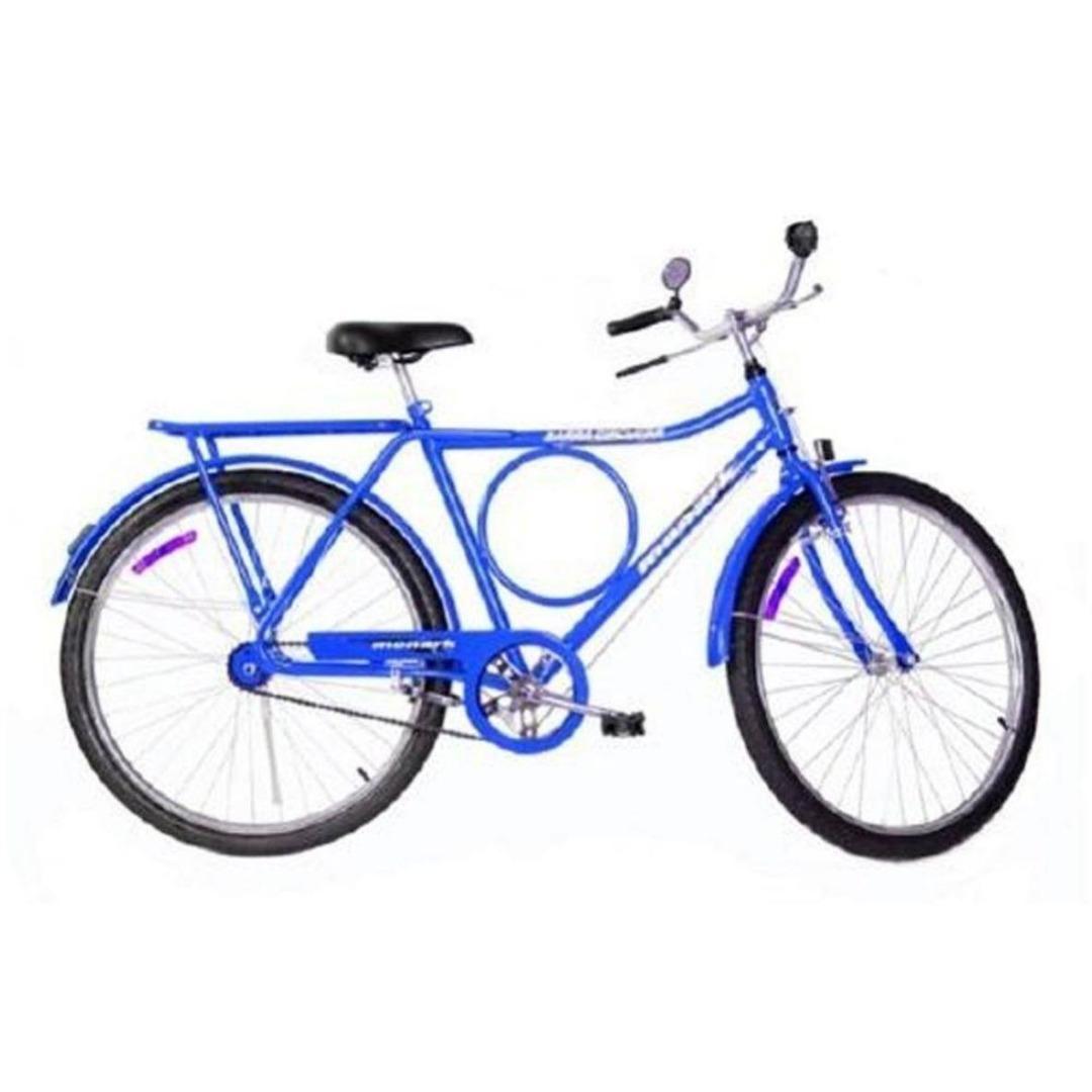 Bicicleta Aro 26 Freio Varão Barra Circular 52937-4 Azul - Monark