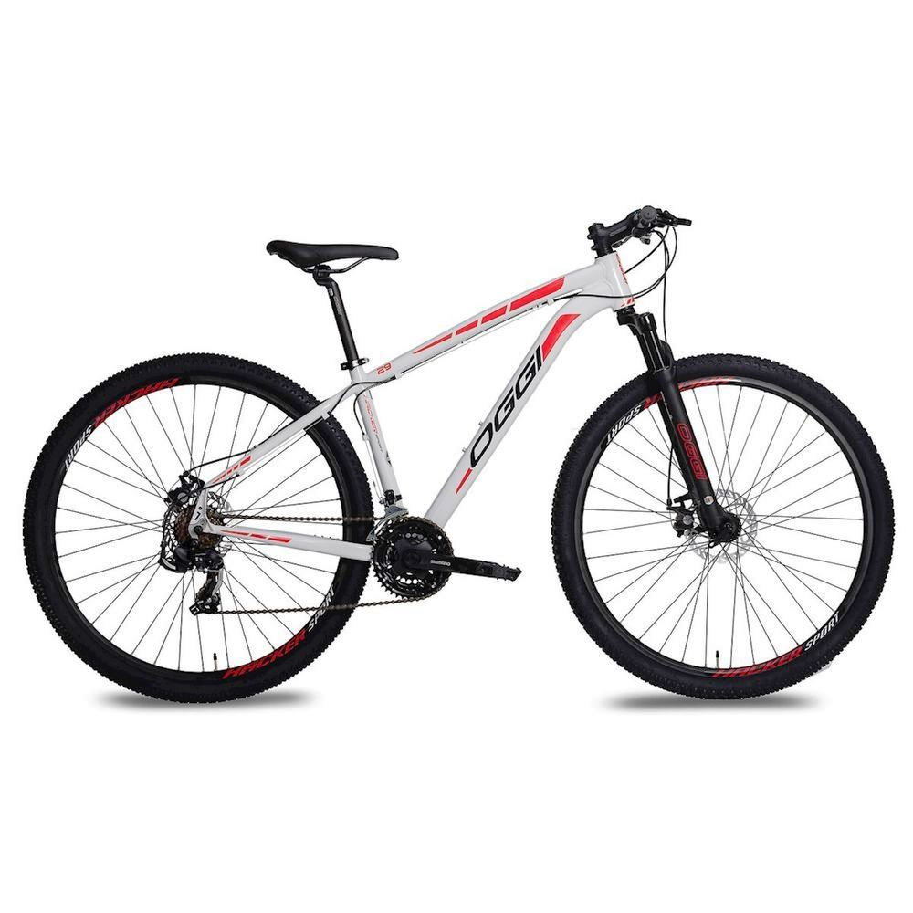 Bicicleta Hacker - Oggi - Tam 17 - Branco/Vermelho