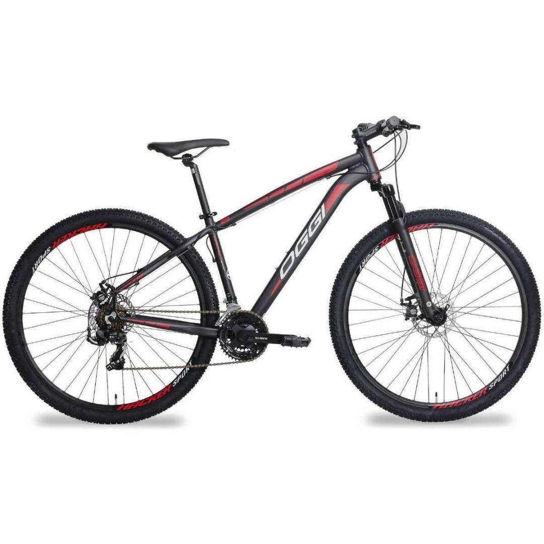 Bicicleta Hacker - Oggi - Tam 17 - Preto/Vermelho