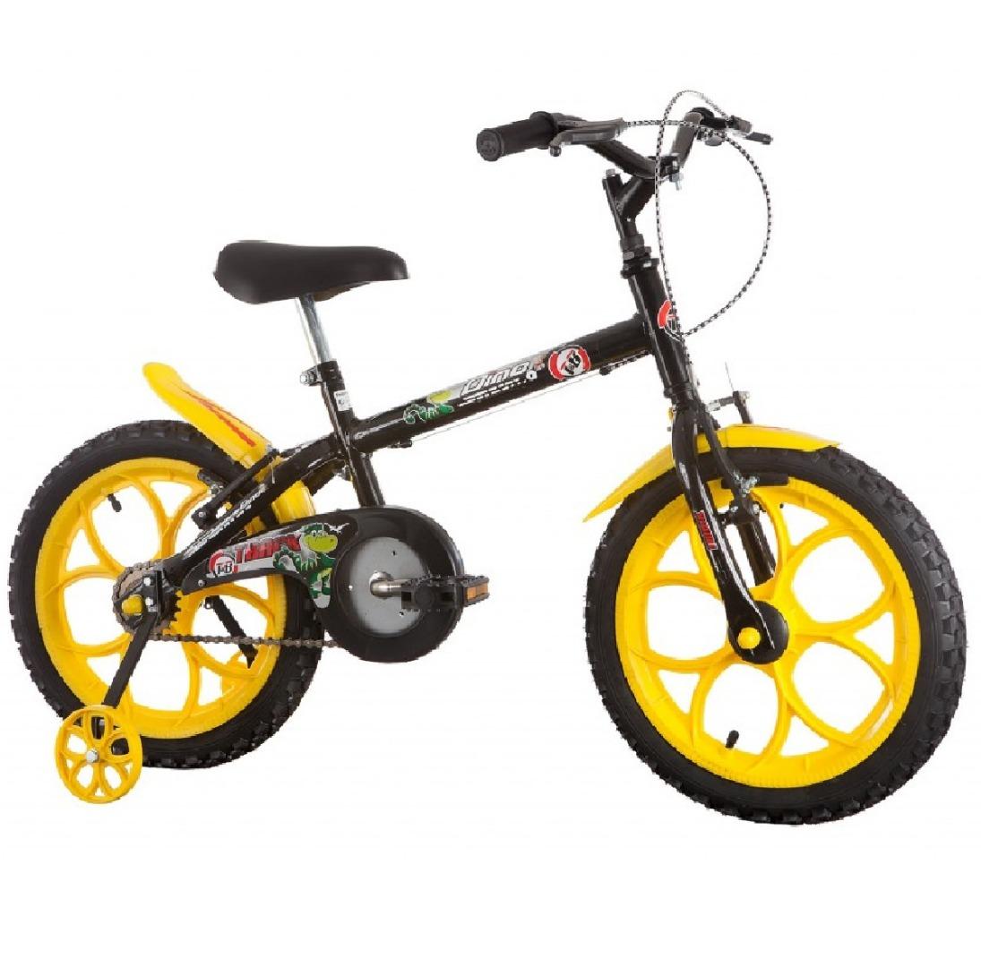 Bicicleta Infantil Aro 16 Dino Preto - Track & Bikes