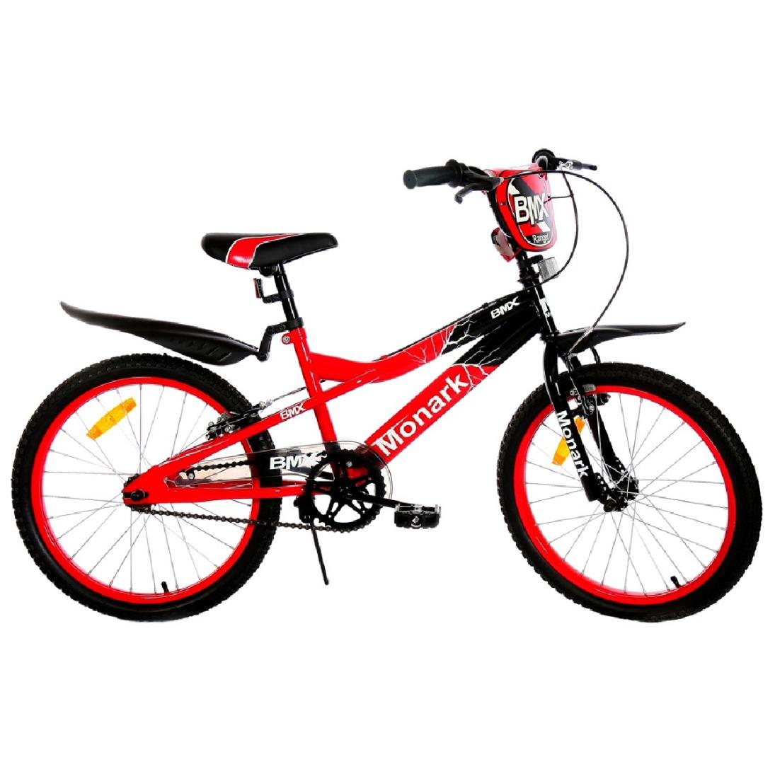 Bicicleta Infantil Aro 20 BMX Ranger - Preta/ Vermelha - Monark