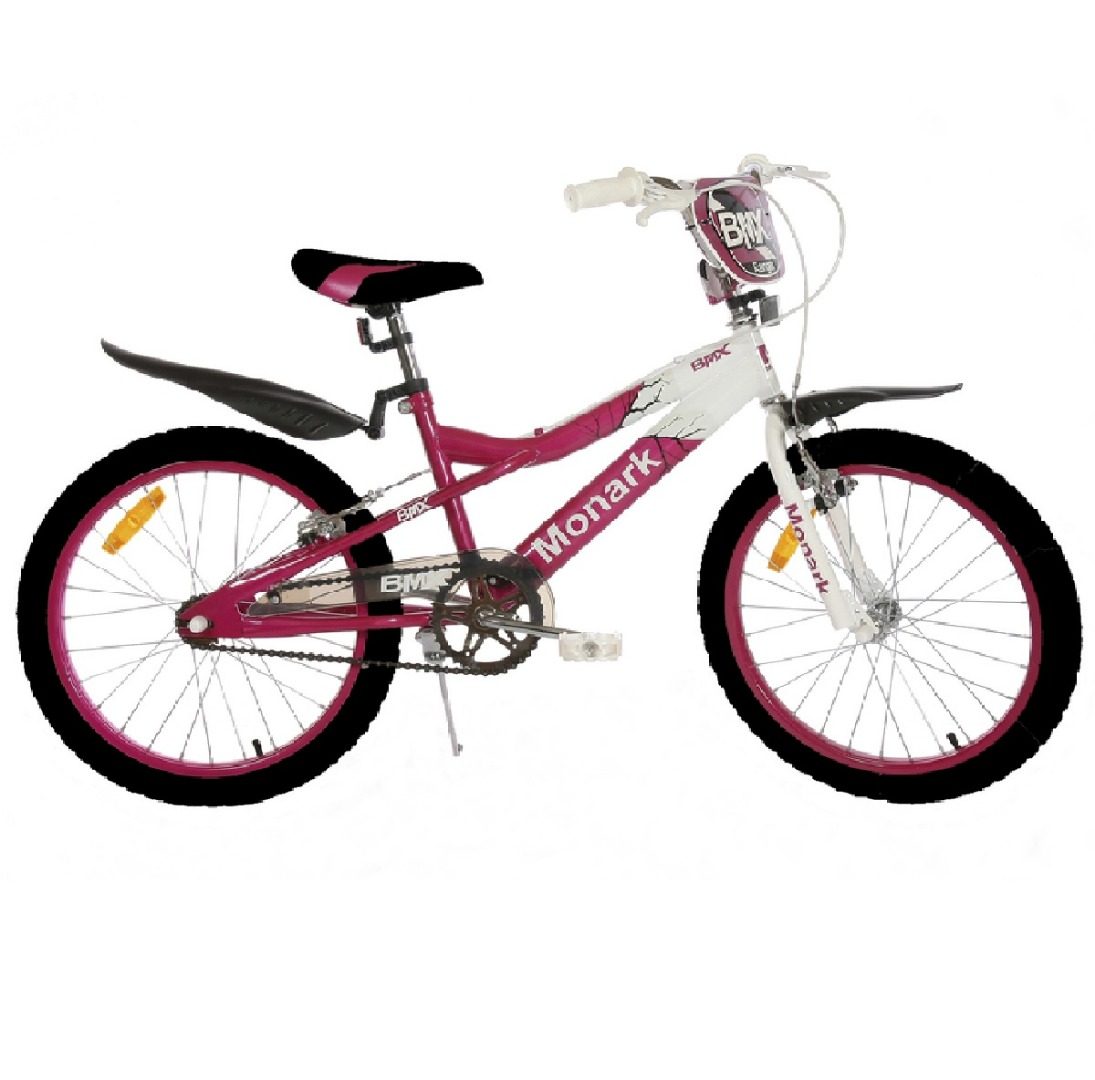 Bicicleta Infantil Aro 20 BMX Ranger - Preta/Rosa - Monark