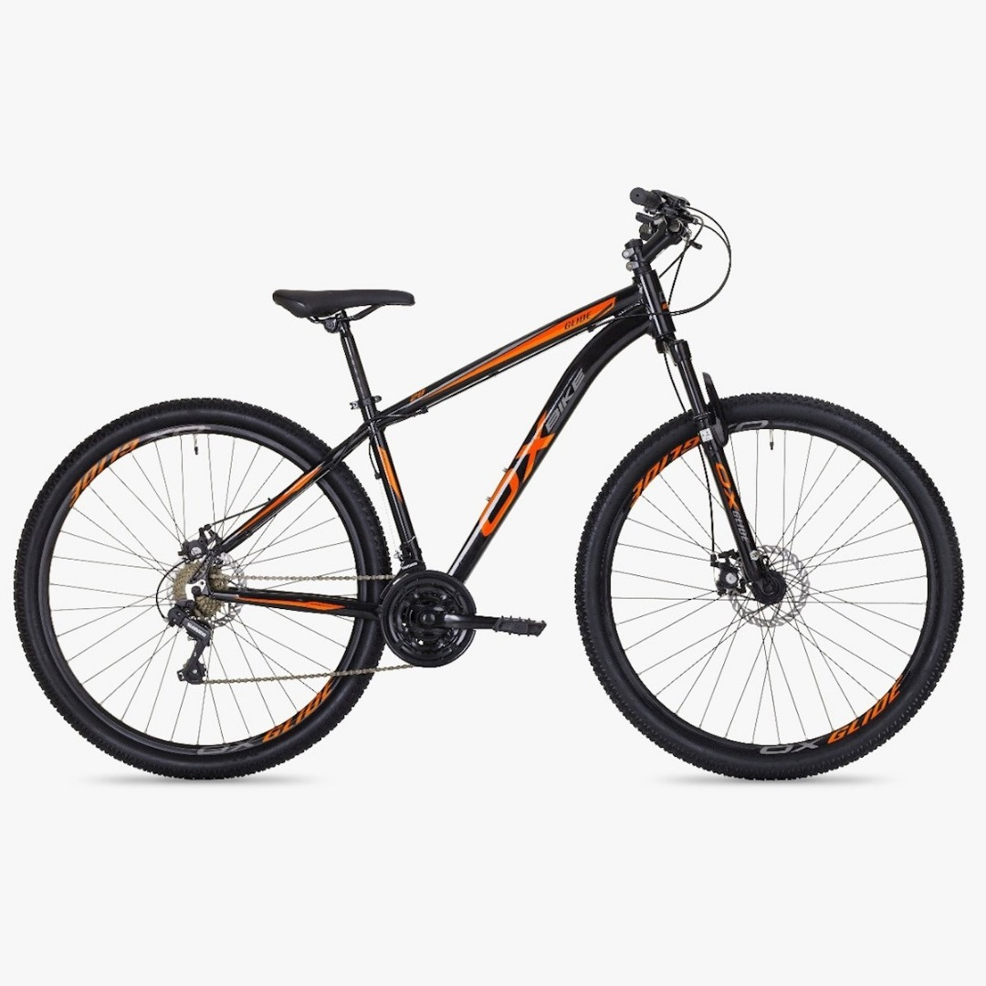 Bicicleta Mtb Hard Glide Aro 29 Freio A Disco 2018 - Preto E Laranja - Oggi