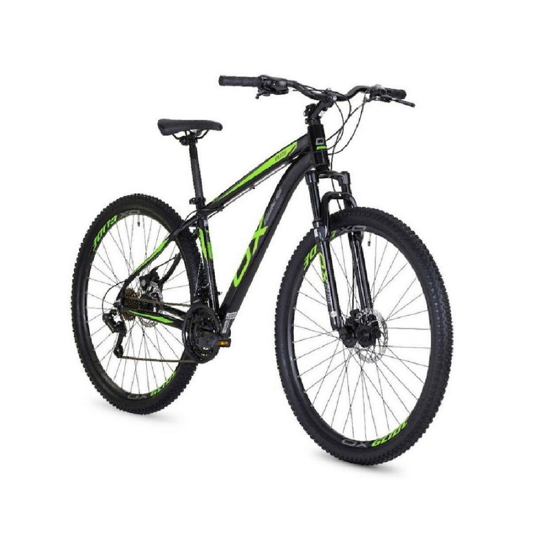 Bicicleta Mtb Hard Glide Aro 29 Freio A Disco 2018 - Preto E Verde - Oggi
