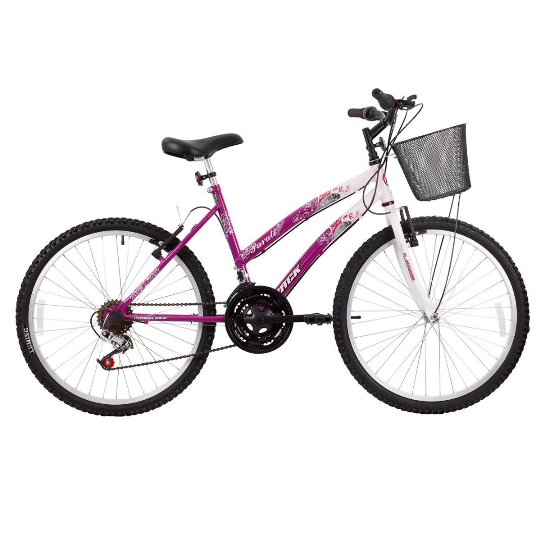 Bicicleta Parati Aro 24 - 18 Marchas - Quadro de Aço e Freio V-Brake - Track Bikes