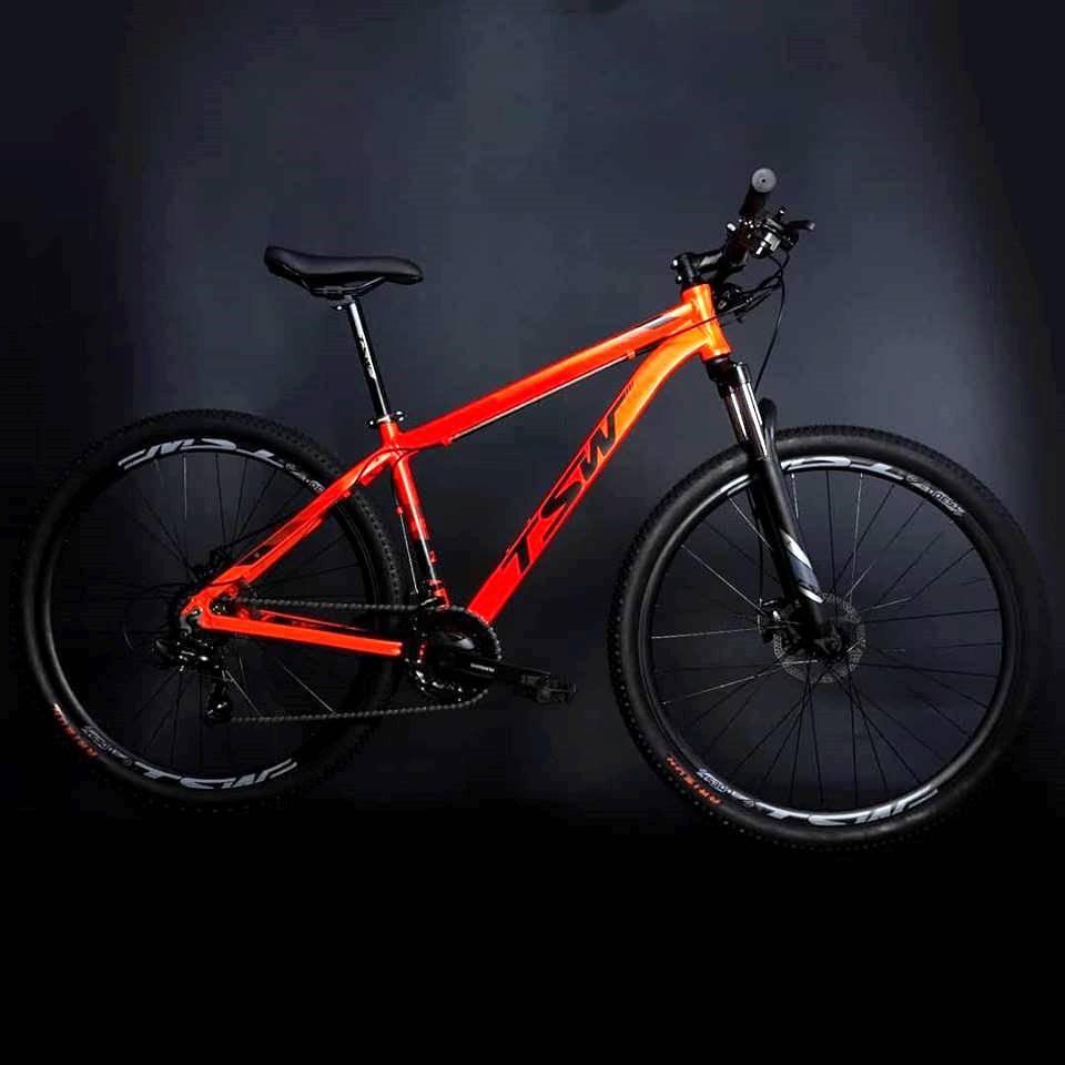 Bicicleta Ride - Tam 17 - 21V - Tsw - Vermelho/Laranja