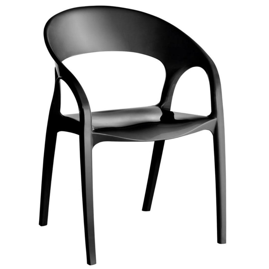 Cadeira Glass Plus em Polipropileno - Preto - Kappesberg