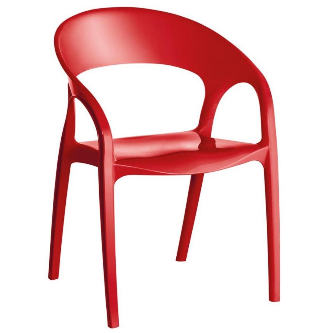Cadeira Glass Plus em Polipropileno - Vermelho - Kappesberg