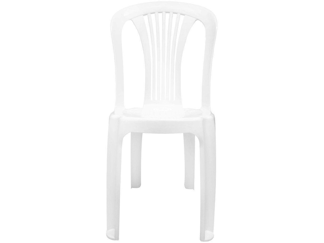 Cadeira Plástica GardenLife Bistrô Branca