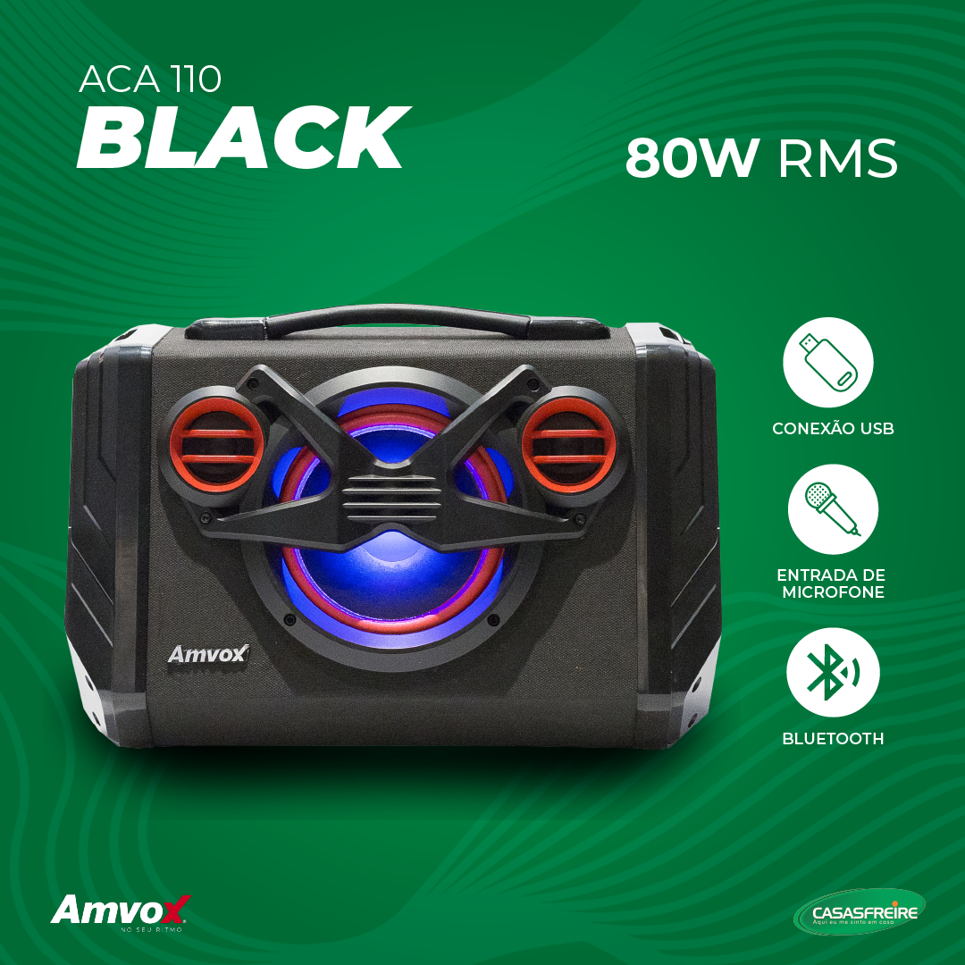 Caixa Amplificada Black ACA 110 - Amvox