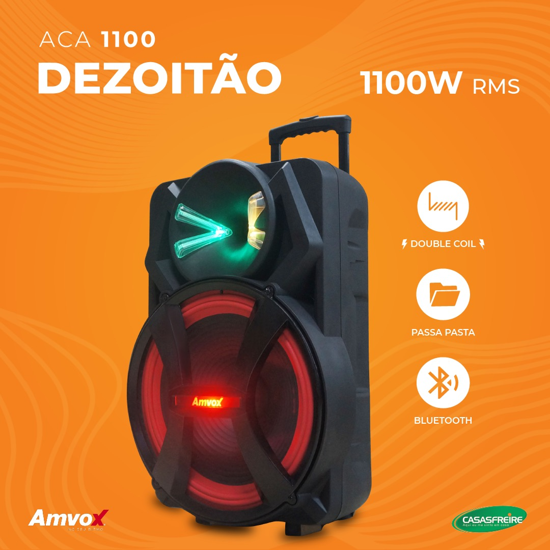 Caixa Amplificada Dezoitão ACA 1100 - Amovx