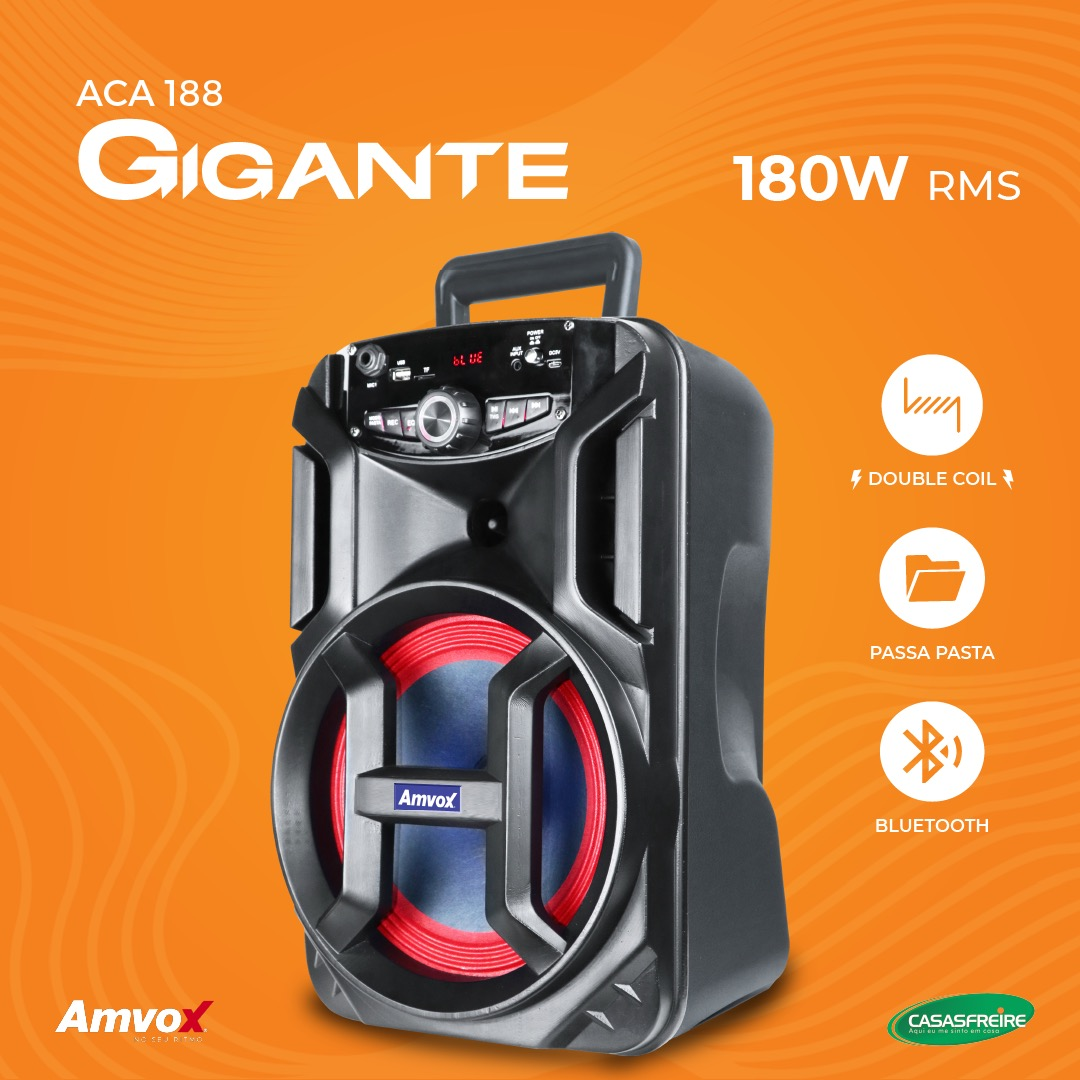 Caixa Amplificada Gigante ACA 188 - Amvox