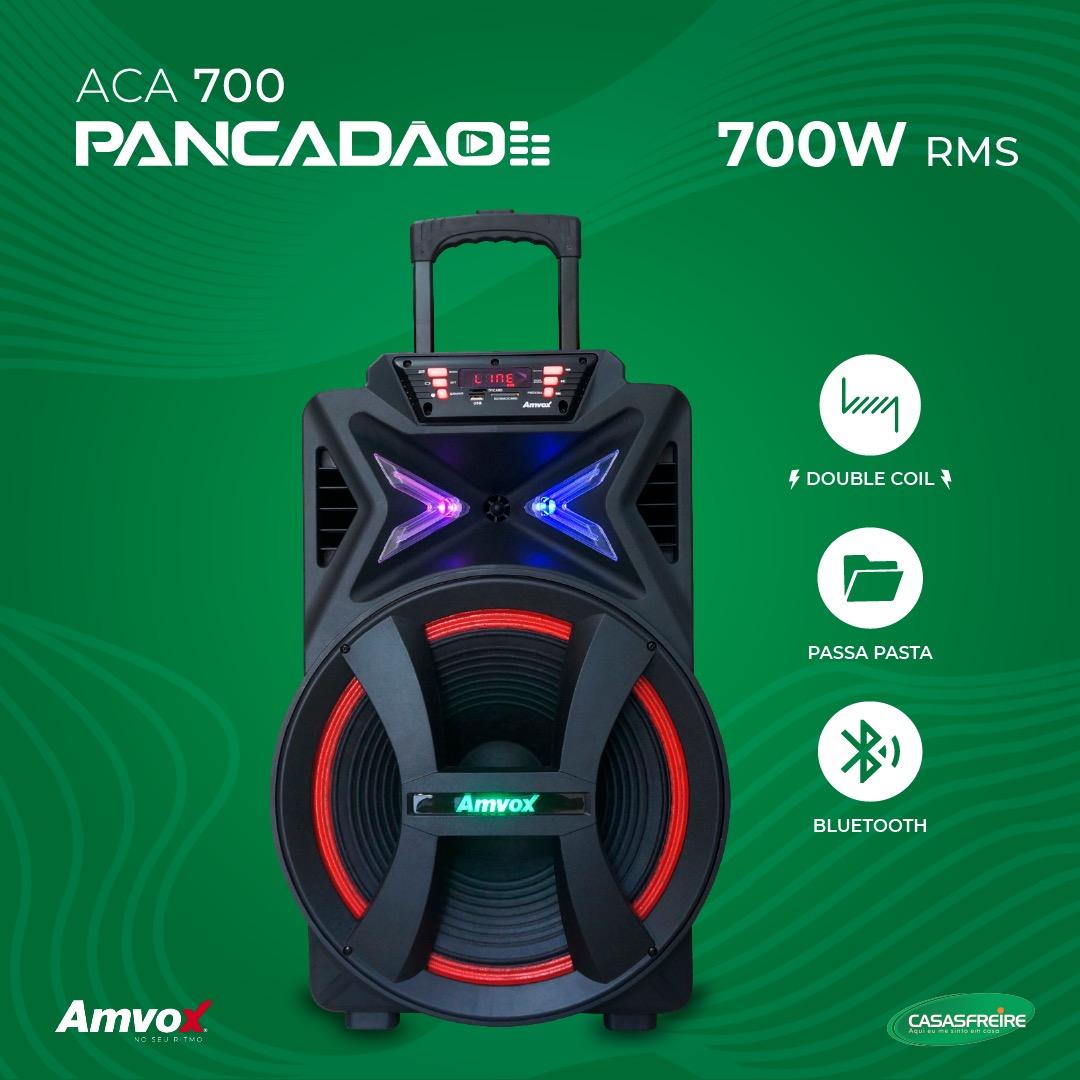 Caixa Amplificada Pancadão ACA 700 - Amvox