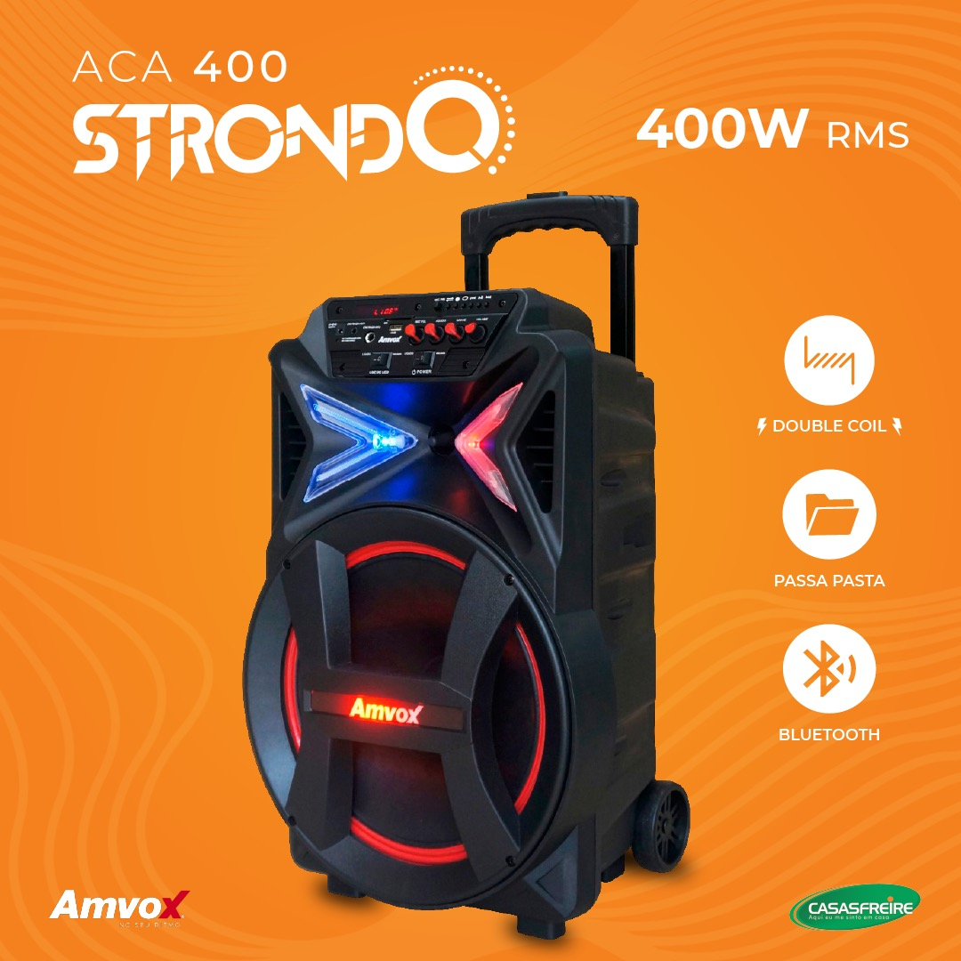 Caixa Amplificada Strondo  ACA 400  - Amvox