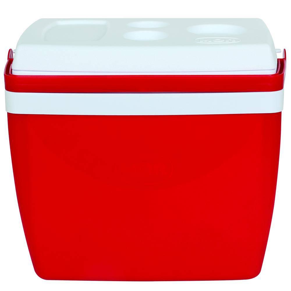 Caixa Térmica 26L Vermelha com Alça - Mor