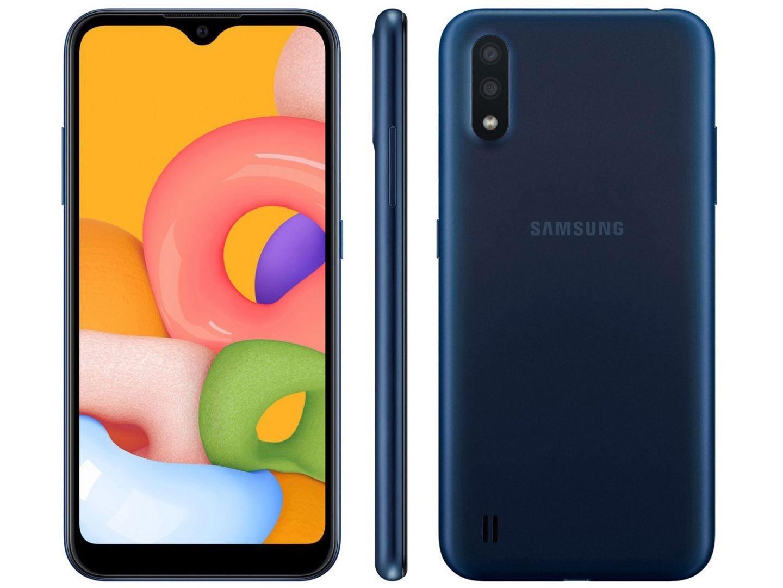 Smartphone Galaxy A01 - Samsung - Azul