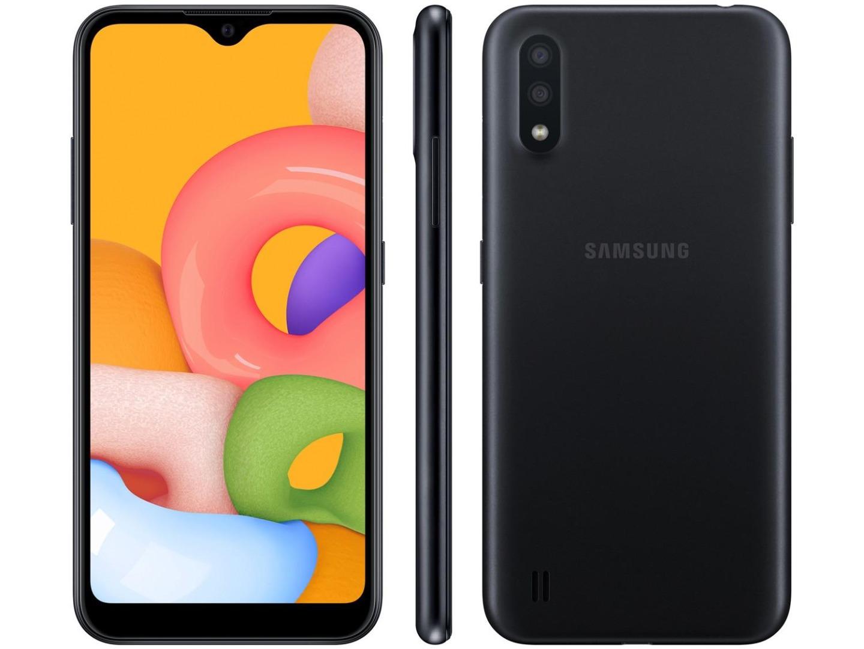 Smartphone Galaxy A01 - Samsung - Preto