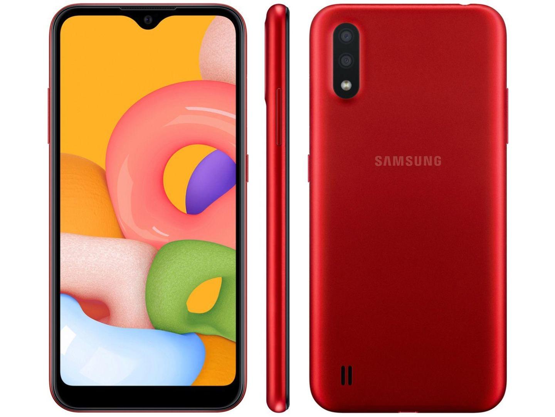 Smartphone Galaxy A01 - Samsung - Vermelho