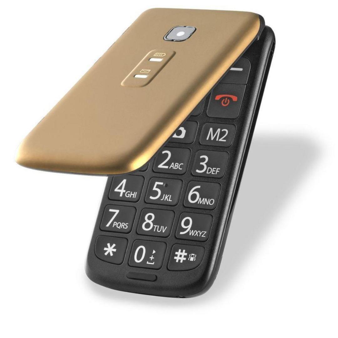 Celular Flip Vita Dual Chip MP3 Dourado P9043 - Multilaser