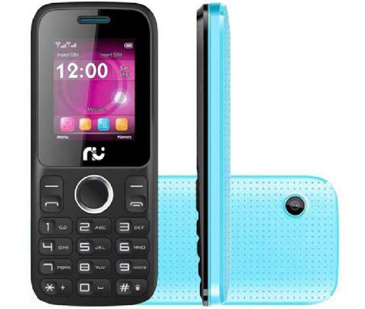 Celular Riu 1, Desbloqueado Preto E Azul, 2 Chips, Rádio - Riu