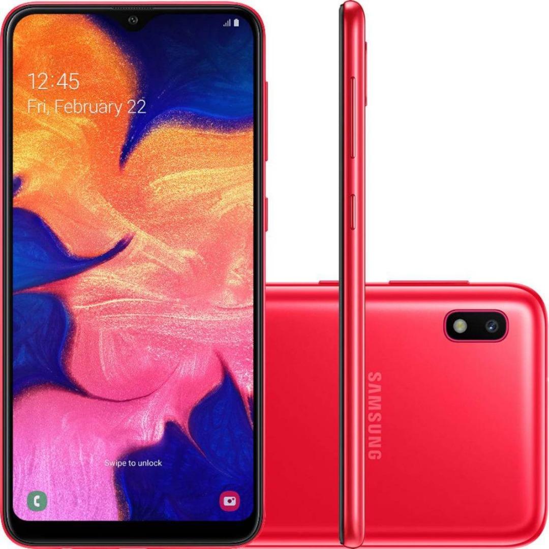 Celular Samsung A10 - 32GB - Vermelho