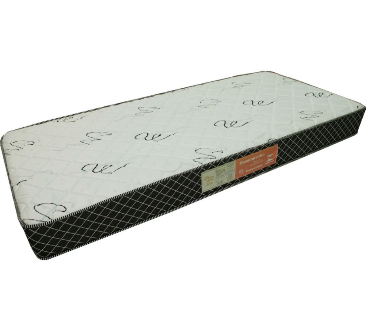 Colchão Espuma Confortex D28 Solteiro 78X188X18cm Branco - Plumatex