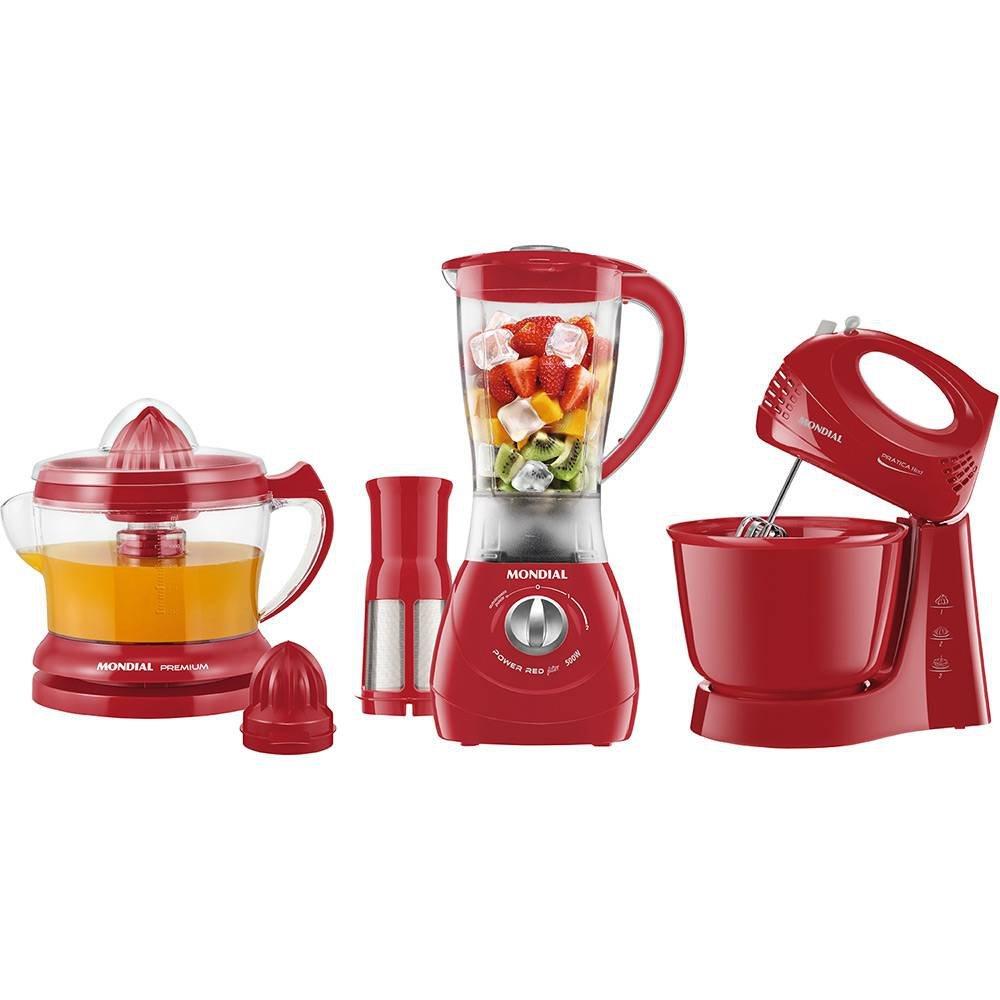 Conjunto Especial Gourmet Red II 220V  - Mondial