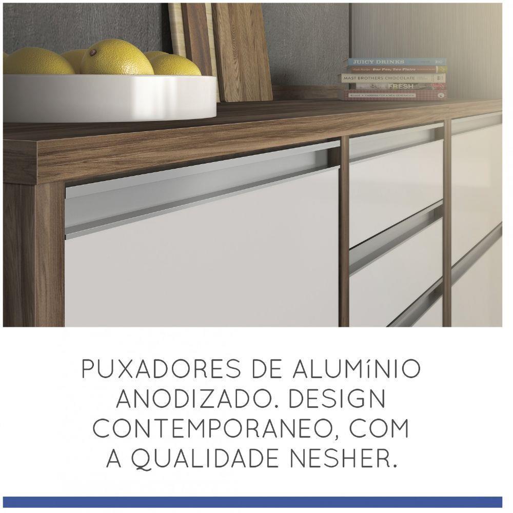 Cozinha Baronesa Compacta com Balcão Tampo em MDP 4 Peças - Nesher Móveis