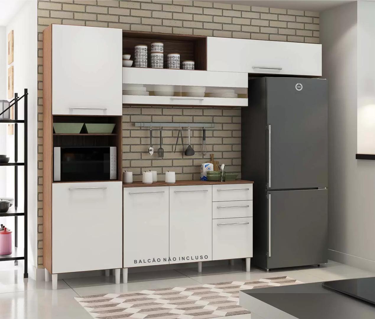 Cozinha Carmenere 2 Peças - Ronipa - Sevilha/Branco