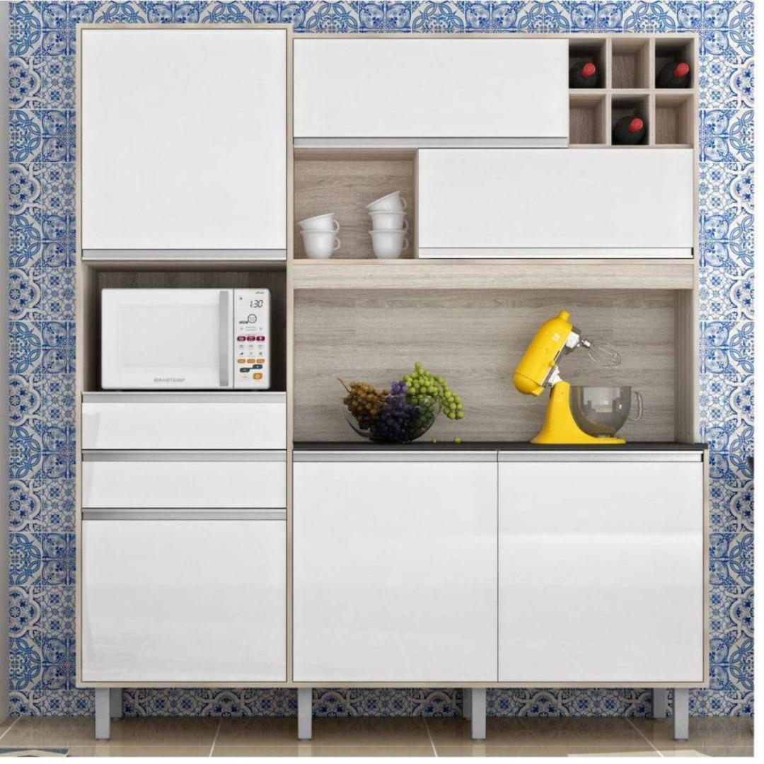Cozinha Compacta Loft 6 Portas e 2 Gavetas - Branco - Nesher