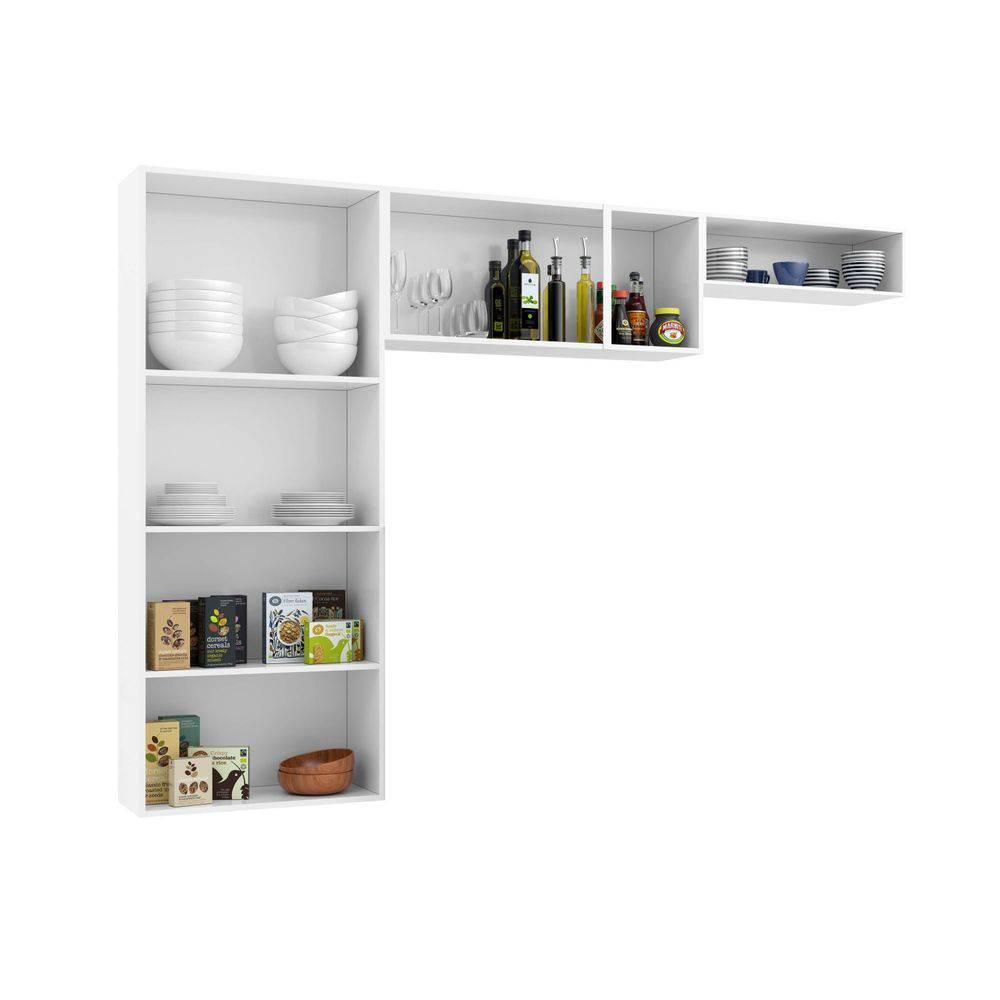 Cozinha Compacta Perola  sem balcão - Telasul -  3 Peças - Branca