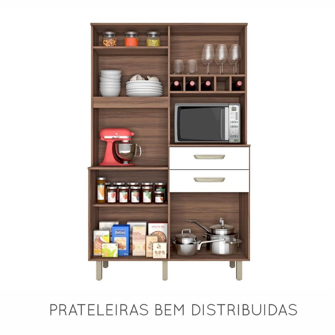 Kit Cozinha Smart Junior - Nesher - Nogal/Branco
