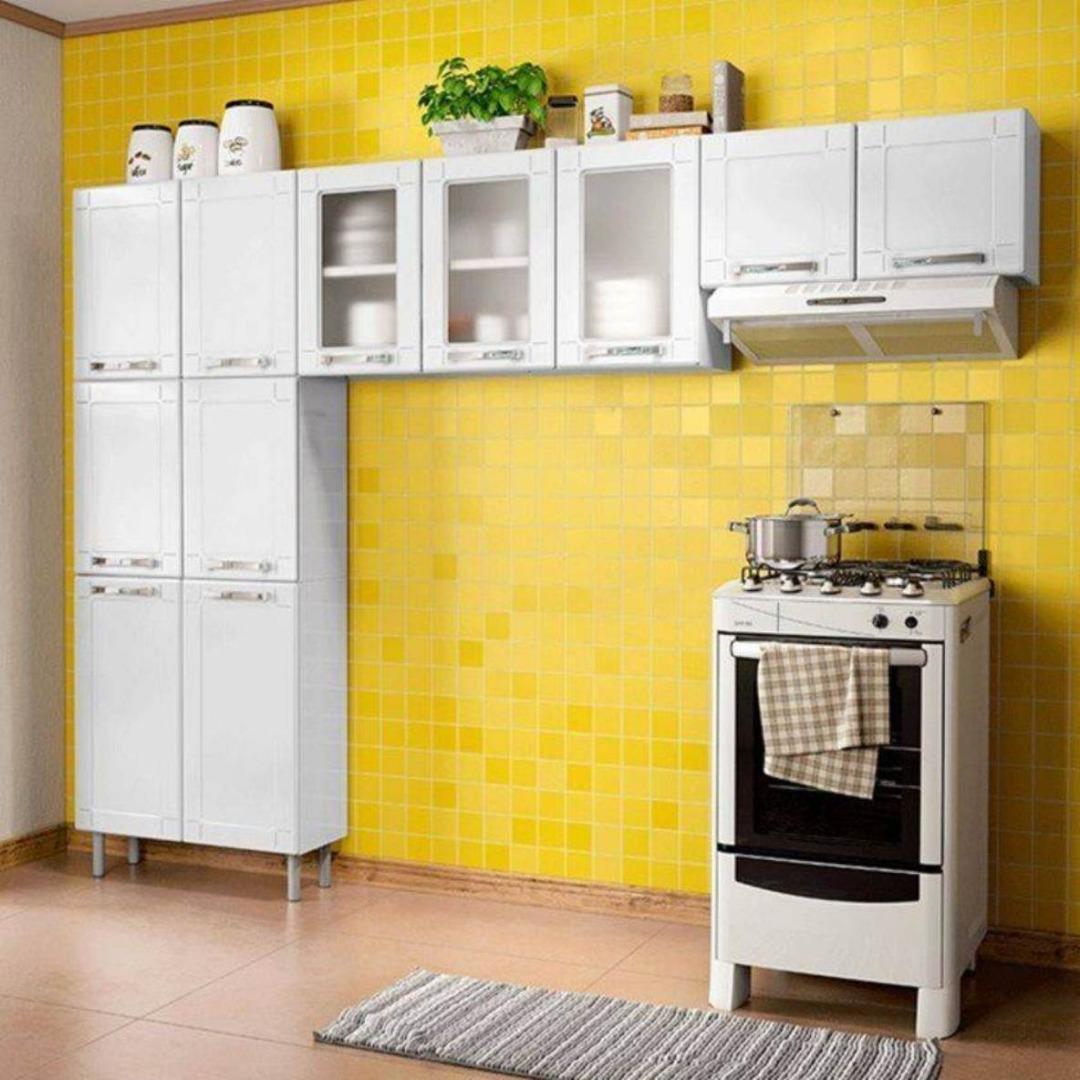 Cozinha Modulada 3 Peças em Aço Múltipla Branco - Bertolini