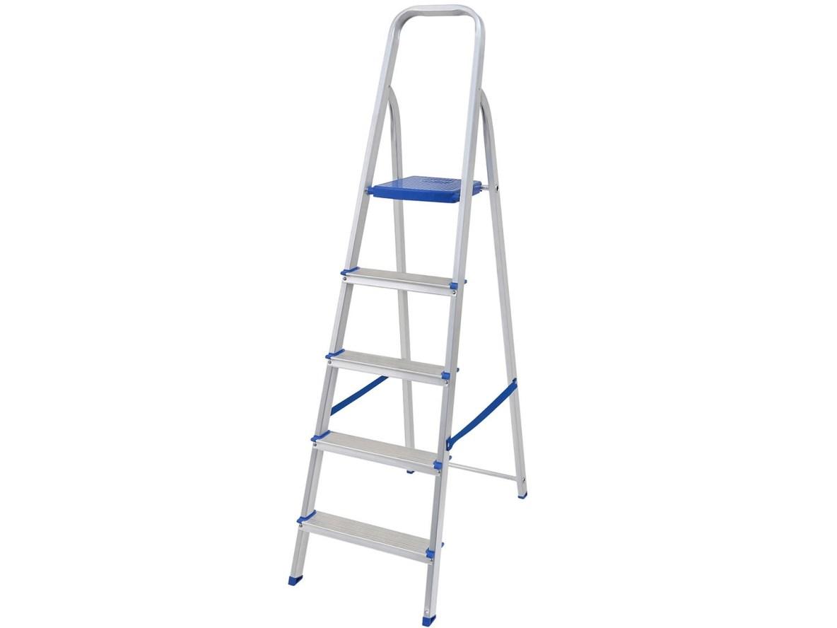 Escada Alumínio  5 Degraus - Mor