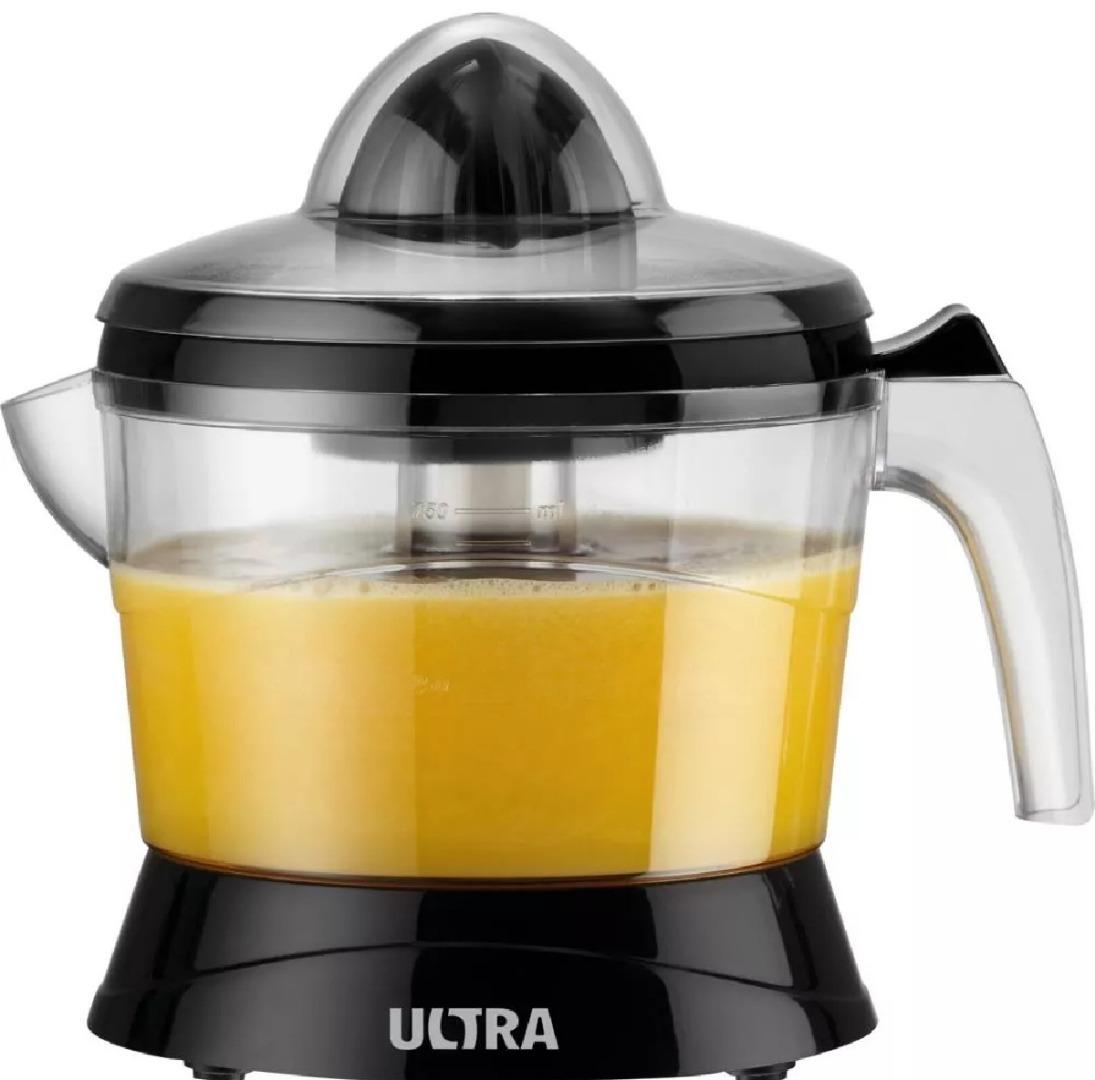 Espremedor de Fruta Ultra E-04 Preto Acionamento Automático Desmontável Dupla Rotação - Mondial