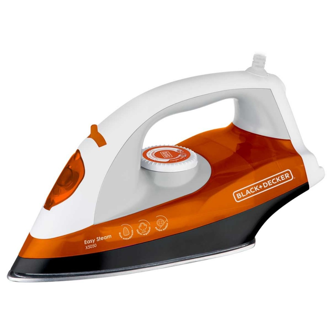 Ferro a Vapor X5050 Base Antiaderente - Black+Decker