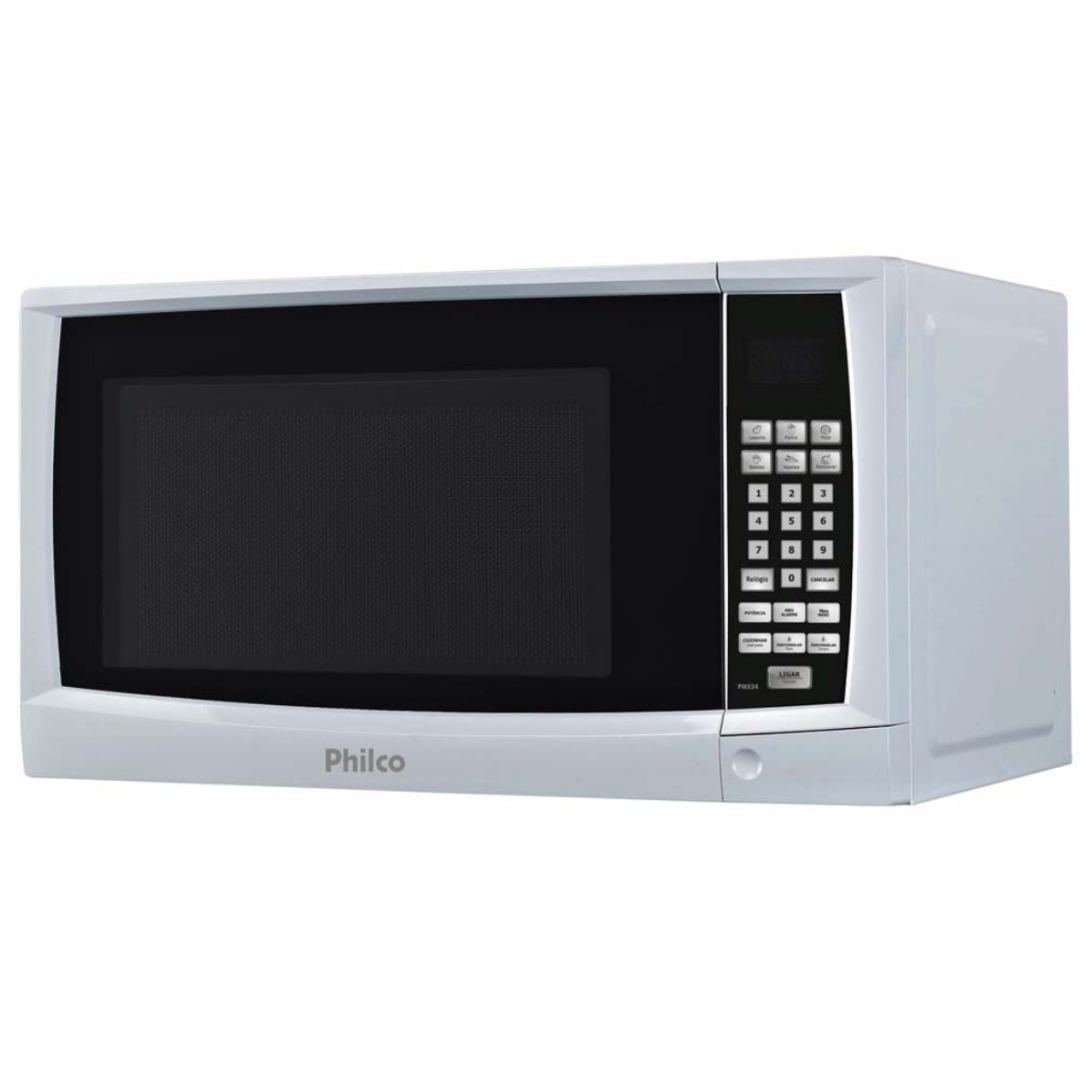 Forno de micro-ondas PMS24 com Teclas Fáceis Kids e Cozinhar, Função Descongelar e Trava de Segurança 20L - Philco