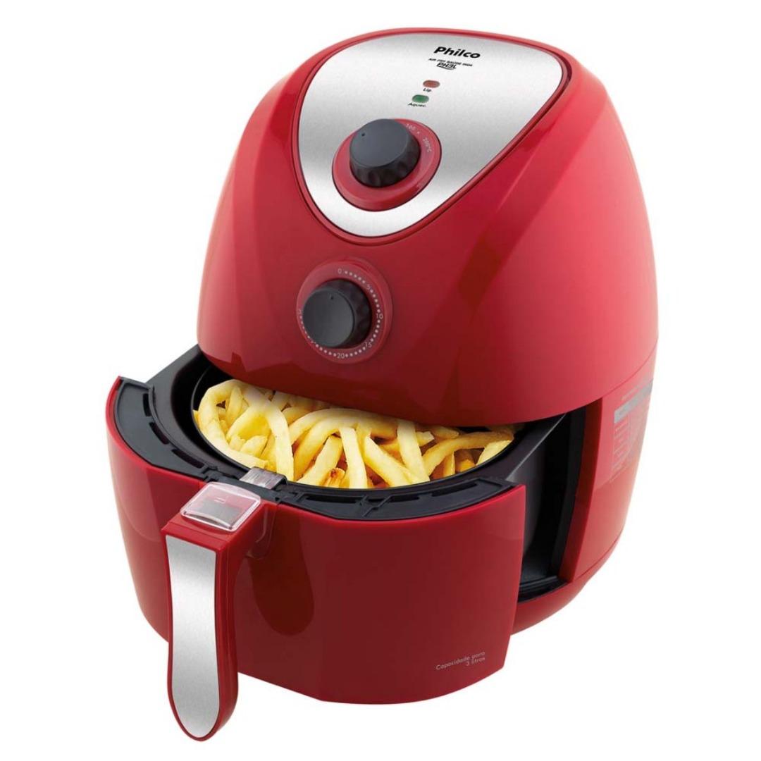 Fritadeira Air Fry Saúde PH3L Inox Vermelha - Philco