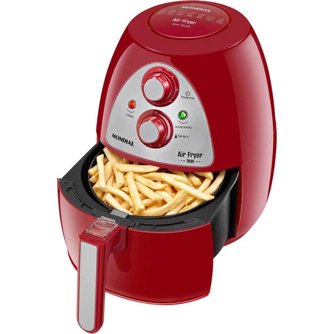 Fritadeira Air Fryer Inox Red Premium AF-14 - Vermelho/Inox - Mondial