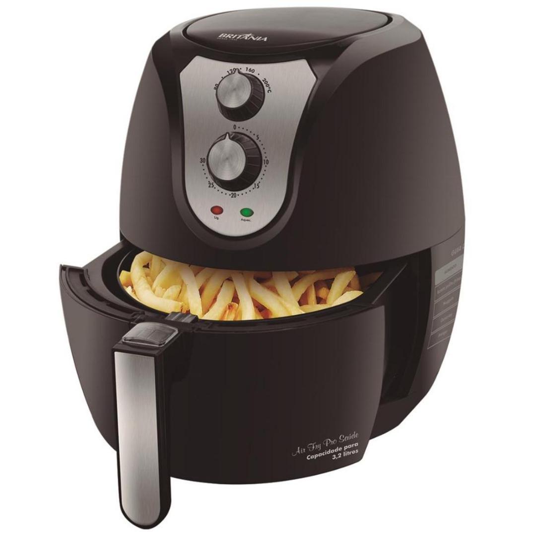 Fritadeira sem Óleo Air Fry Pro Saúde Preta - Britânia