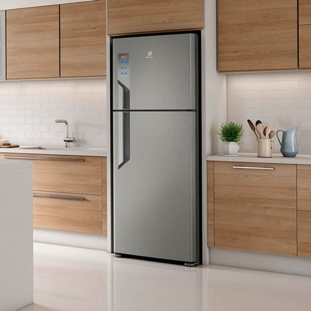 Geladeira/Refrigerador 2 Portas 431L - Electrolux - Inox ( 220 Volts )