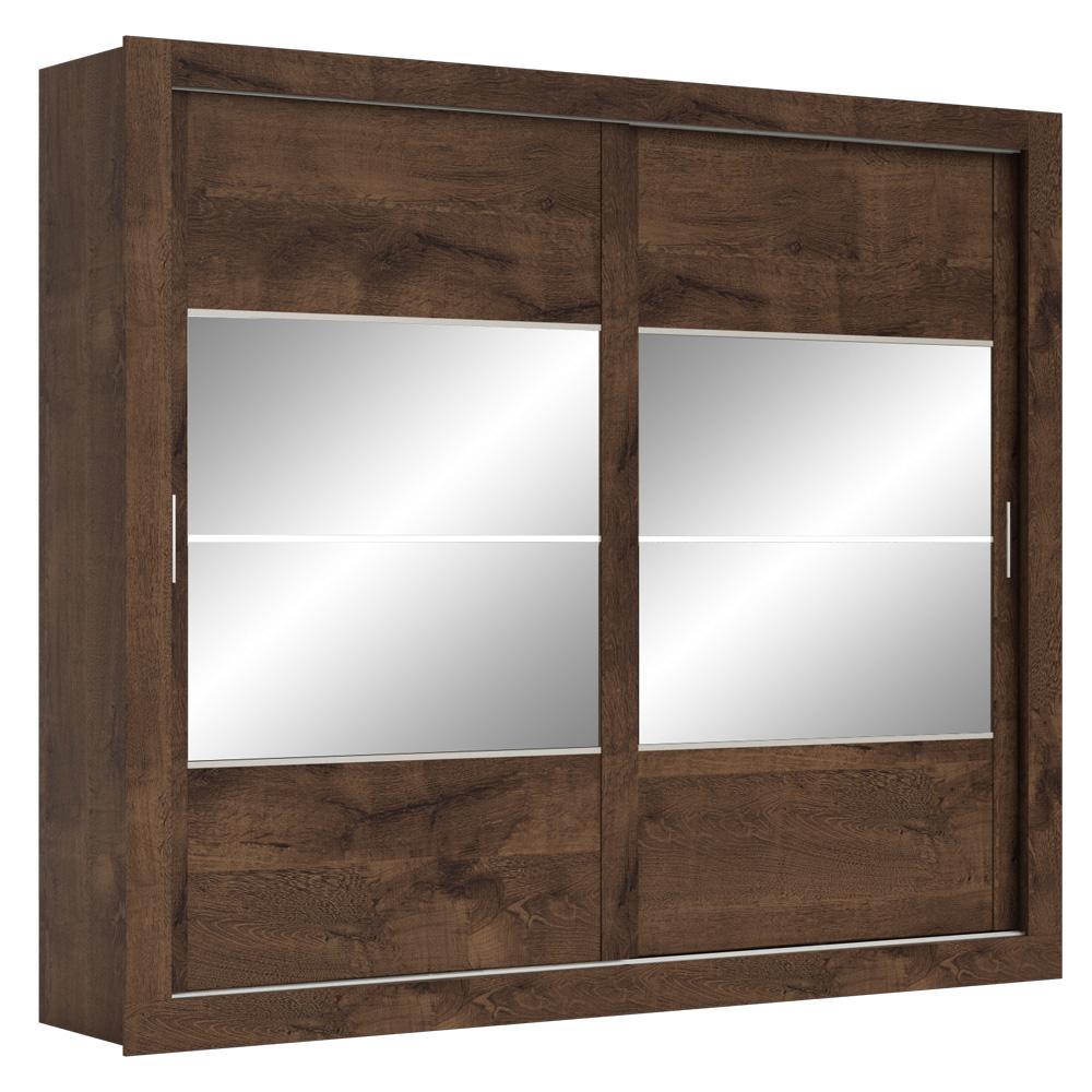 Guarda Roupa Casal 2 Portas de Correr 4 Espelhos Ipanema Imbuia Prime - Docelar