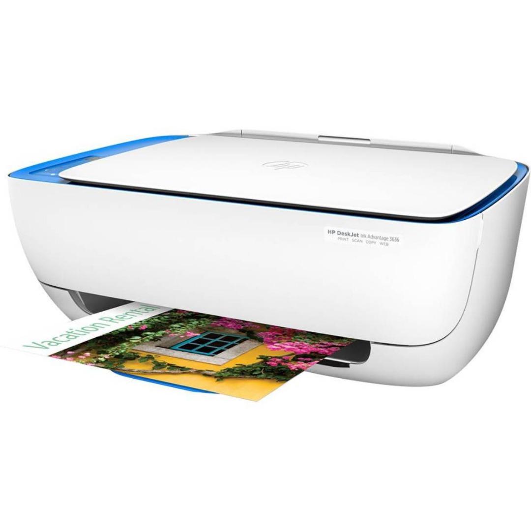 Impressora Multifuncional 3636 DeskJet Color F5S45A Branco Impressão Cópia Digitalização - HP